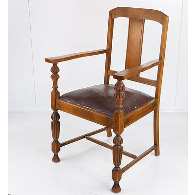 Tasmanian Oak Carver Chair Circa 1920s