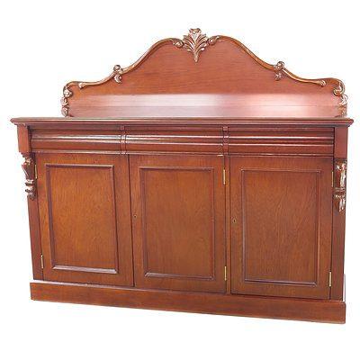 Victorian Style Mahogany Finish Sideboard