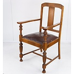 Tasmanian Oak Carver Chair Circa 1920s
