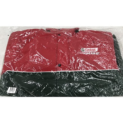 Brand New Castrol Racing Red & Green Jacket - RRP Over $300