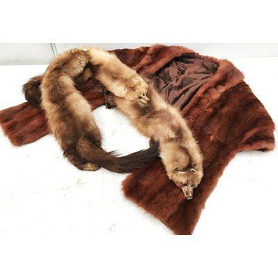 Two Replica Fox Fur Stoles