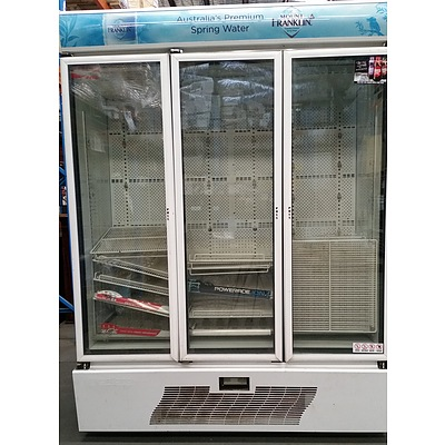 Orford 1000 Litre Three Door Commercial Display Refrigerator
