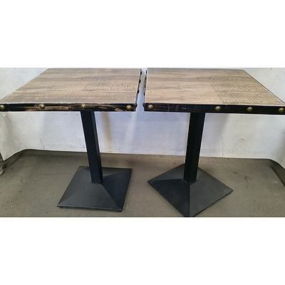 Rustic Cafe Tables - Lot of Two