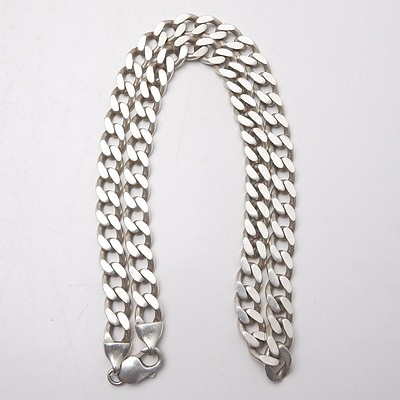 Sterling Silver File Link Chain, 83g
