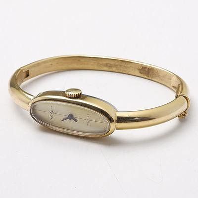 Rolled Gold Ladies Swiss Hinged Bangle Valgine Incabloc Watch