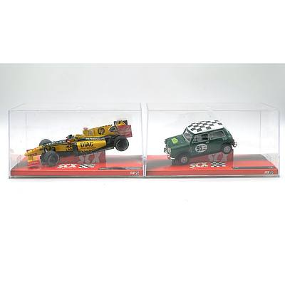 SCX Renault F1 and Mini Slot Cars