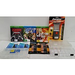 XBox One Games, Blue Ray DVD, Electric Lantern, Duracell Batteries, iPhone Screen Protectors