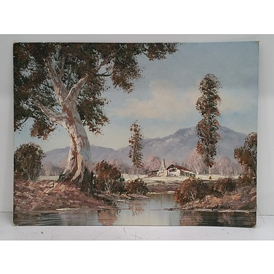 Signed Oil On Canvas Paintings Of The Australian OutBack - Lot Of 2