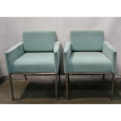 Teal Armchair - Lot Of 2