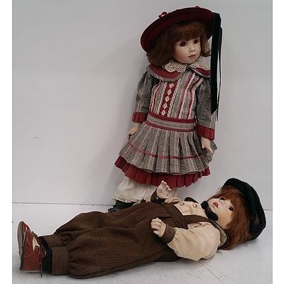 Franklin Heirloom Dolls - Lot Of 2