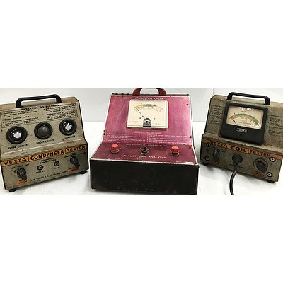Two Vesta Testers & Exhaust Gas Analyser