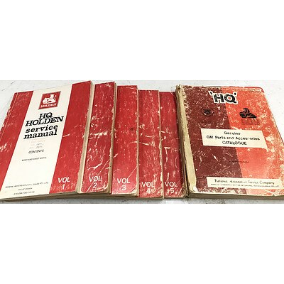 Holden HQ 5 Volume Service Manuals & Part and Accessories Catalogue