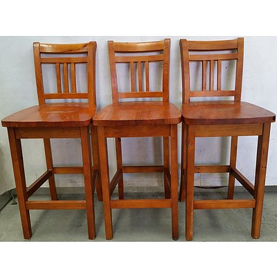 Balmoral Maple Kitchen Stools - Lot of Three