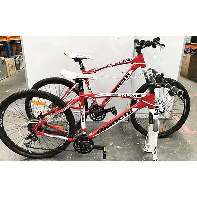 Bianchi 5100 Kuma 27 Speed Mountain Bikes - Lot of 2