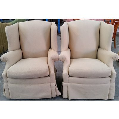 Drexel Heritage Wingback Armchairs - Lot of Two