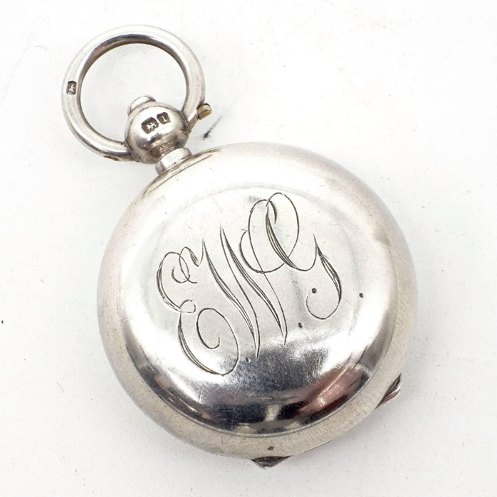 'Edwardian Monogrammed Sterling Silver Sovereign Case, Birmingham, Aaron Lufkin Dennison, 1910'