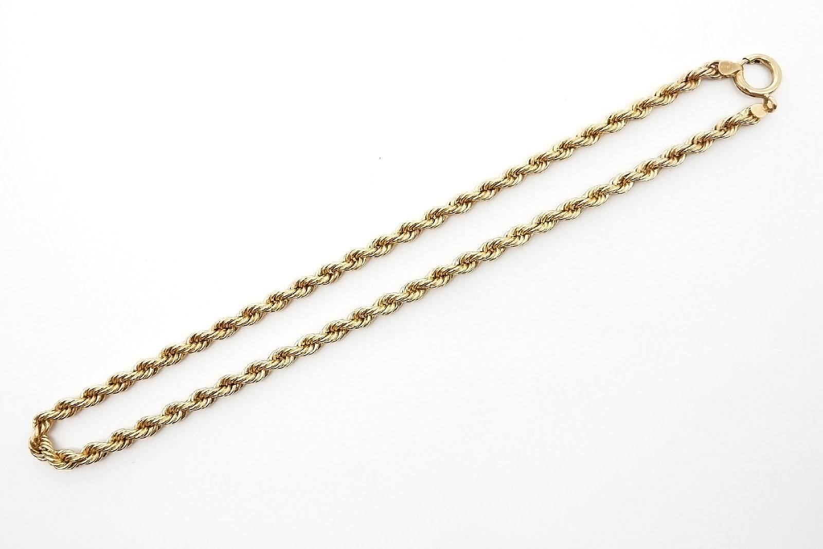 '9ct Yellow Gold Triple Rope Chain, 8.2g'
