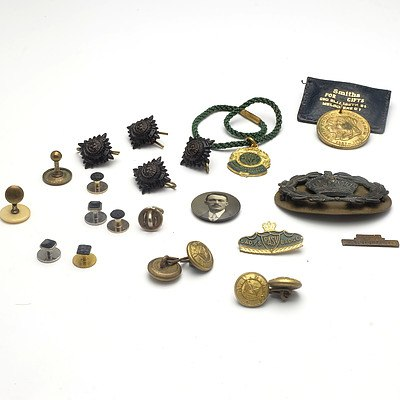 Australian Warrant Officer, Class II Badge, Royal Agricultural Society  of Victoria Badge, Melbourne Diocese Jubilee Medal and More