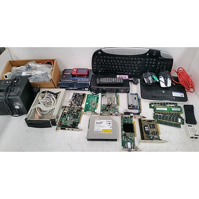 Selection of Audio Visual, Video Cards, Keyboards, RAM, Mice, Cables, IT Components