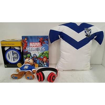 NRL Bulldogs Merchandise, Marvel Discs and JAM Headphones