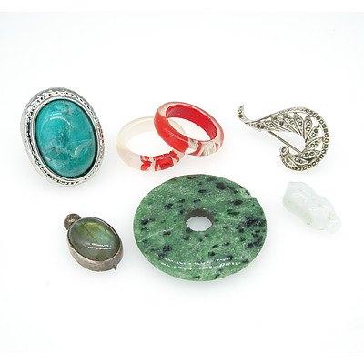Labradorite Pendant, Decorative Rings and more