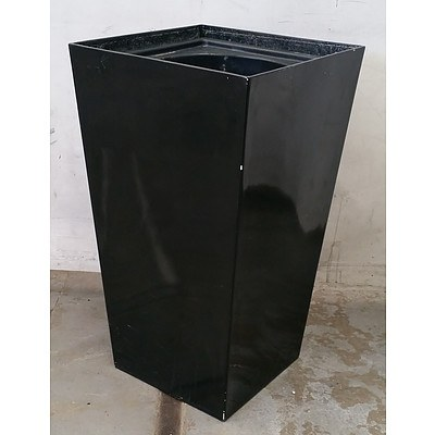 Gloss Black Square Top Sub Irrigation Pot - Lot Of 5