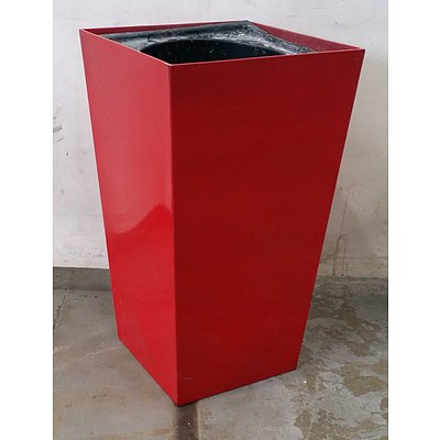 Gloss Red Square Top Sub Irrigation Pot - Lot Of 5