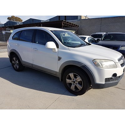 12/2006 Holden Captiva SX (4x4) CG 4d Wagon White 3.2L