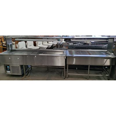 Stainless Steel Combination Hot and Cold Food Service/Display
