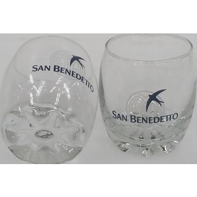 San Benedetto 350ml Glass Tumblers - Lot of 72 - Brand New