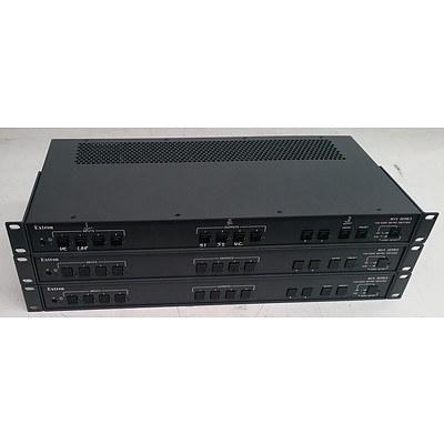 Extron (MVX-44-VGA-A) MVX Series VGA / Audio Matrix Switcher - Lot of Three