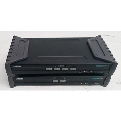 Aten (CS1182/CS1184) Secure DVI-I KVM Switch - Lot of Two