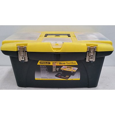 Stanley Portable Toolbox and Various Tools