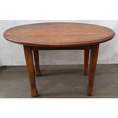 Small Maple Timber Table Dining Table Circa 1930