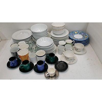 Selection of Ceramic and Glass Table Ware