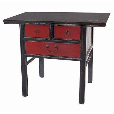 Chinese Lacquered Alter Table, Late 20th Century