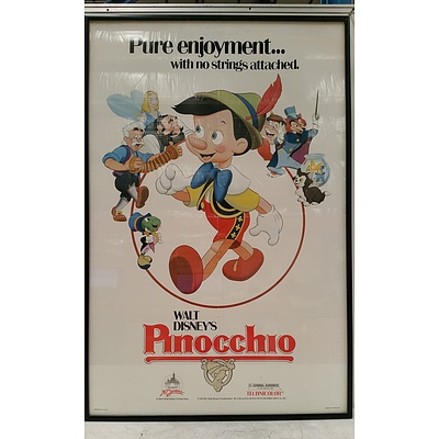 Framed Pinocchio Movie Poster