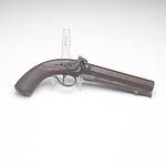 Early 19th Century Black Powder Muzzle Loading Pistol, Barrel Engraved Samuel Nock 116 Jermyn St St James's London