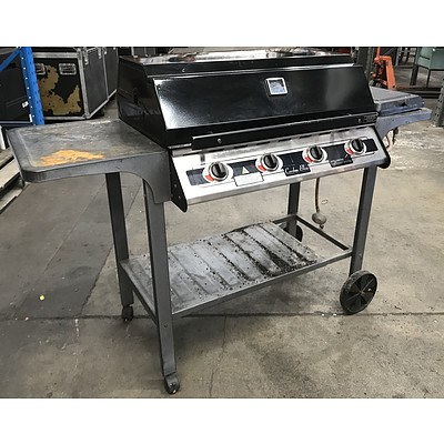 Cordon Bleu 4-Burner Barbecue with Side Wok Burner