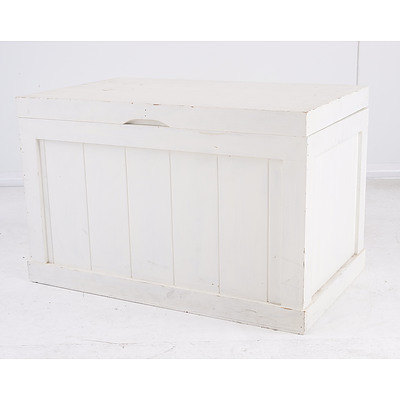 White Painted Pine Chest