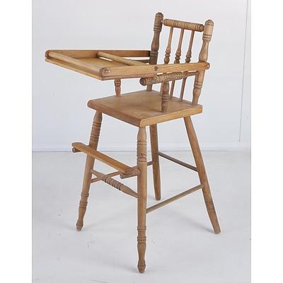 Antique Pine High Chair