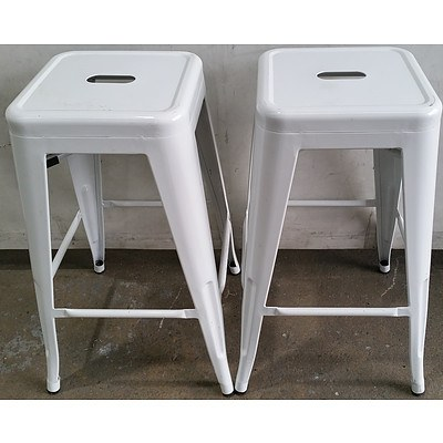 Contemporary Bar Stools - Lot of Two