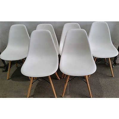 Contemporary Dining Chairs - Lot of Six