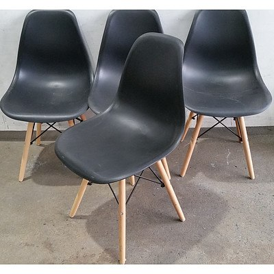 Replica Eames Dining Chairs - Lot of Four