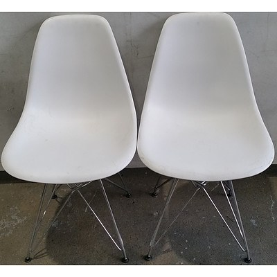 Contemporary Dining Chairs - Lot of Two
