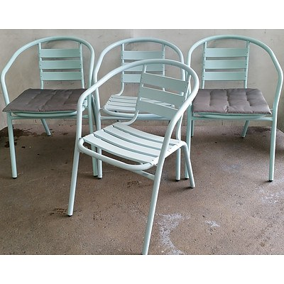Contemporary Outdoor Chairs - Lot of Four