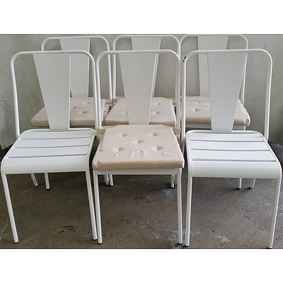 Contemporary Outdoor Chairs - Lot of Six