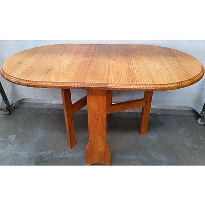 Pine Oval Drop Sided Dining Table