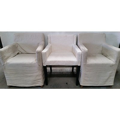 Contemporary Occasional Arm Chairs - Lot of Three