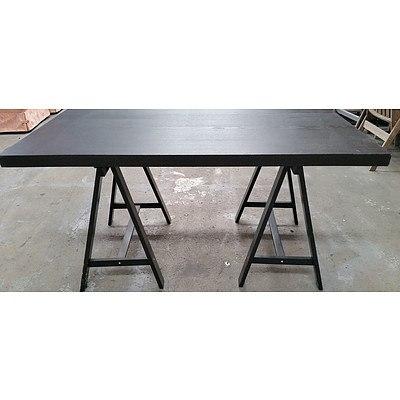 Contemporary Trestle Table